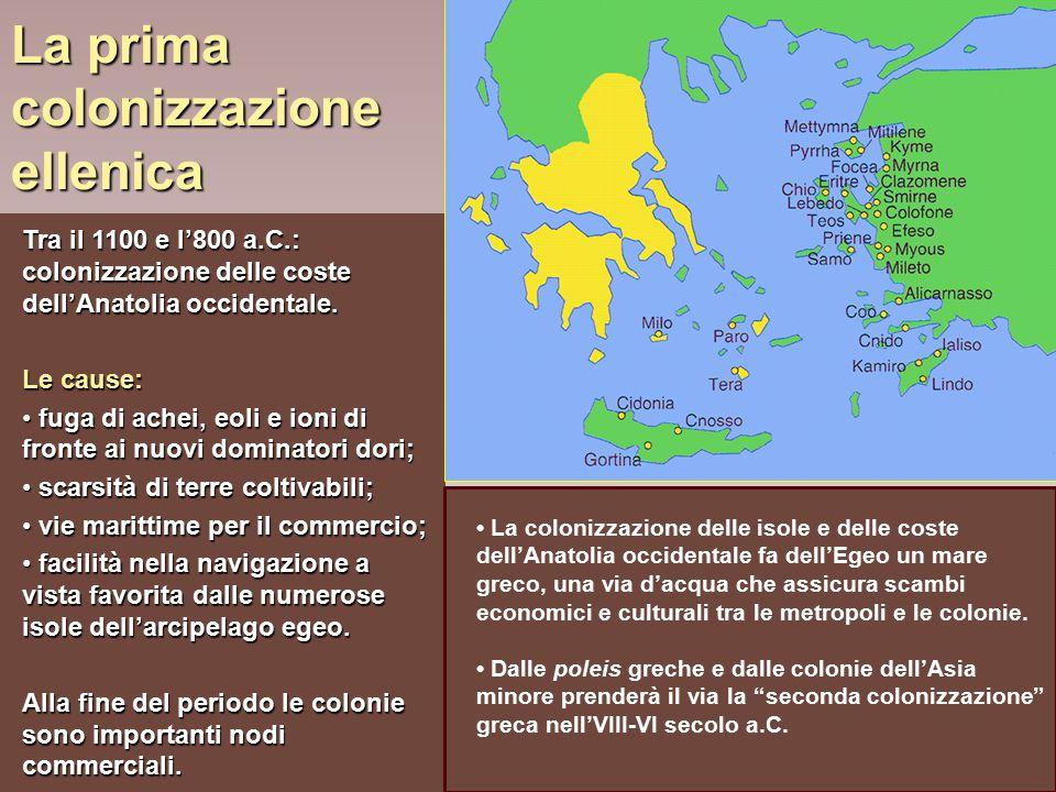 La prima colonizzazione ellenica
