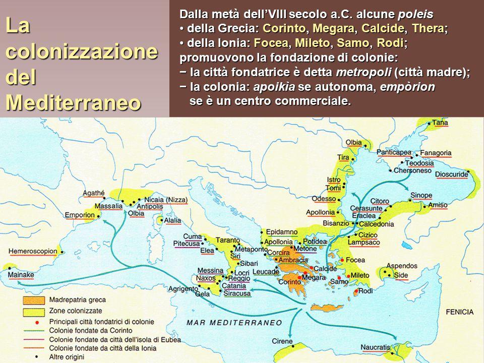 La colonizzazione del Mediterraneo