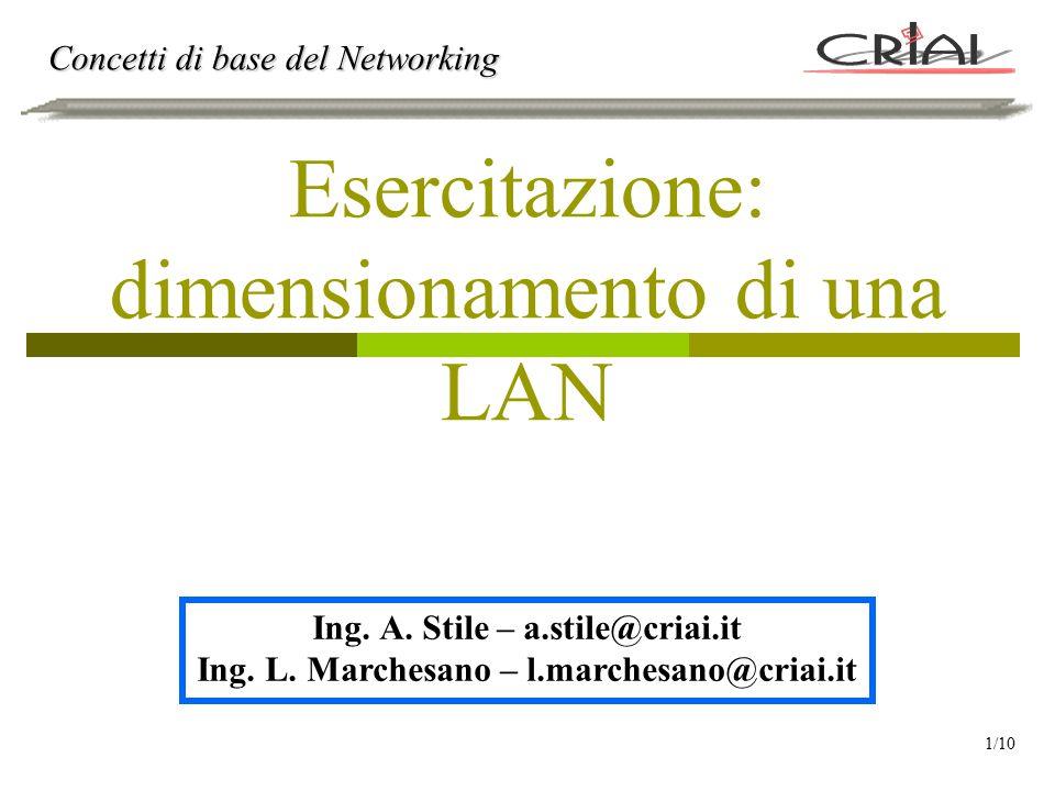 Esercitazione: dimensionamento di una LAN