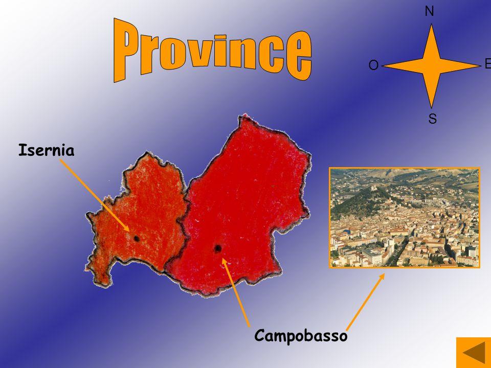 N Province O E S Isernia Campobasso