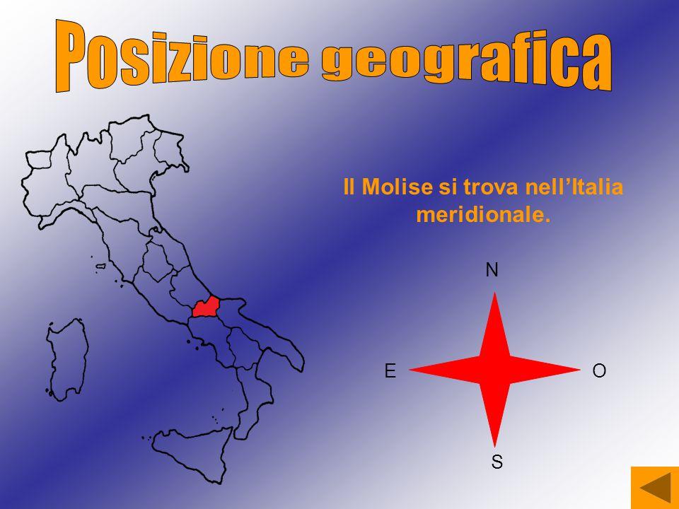 Il Molise si trova nell'Italia meridionale.