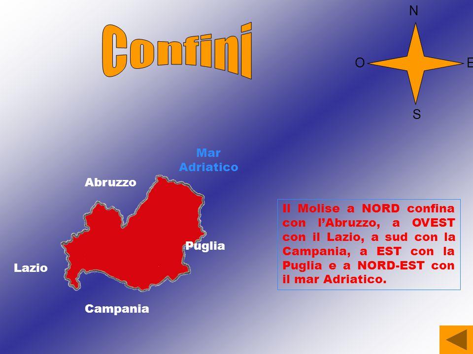 Confini N O E S Mar Adriatico Abruzzo