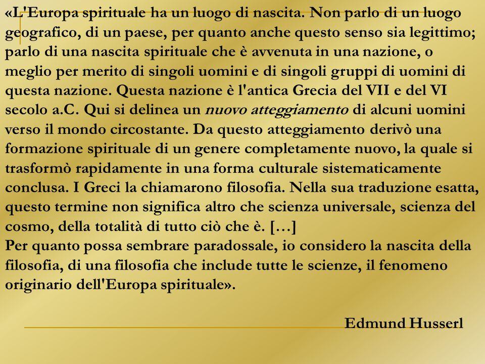«L Europa spirituale ha un luogo di nascita