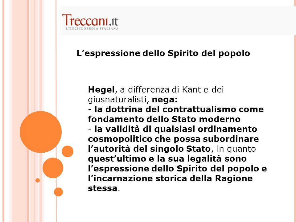 L'espressione dello Spirito del popolo