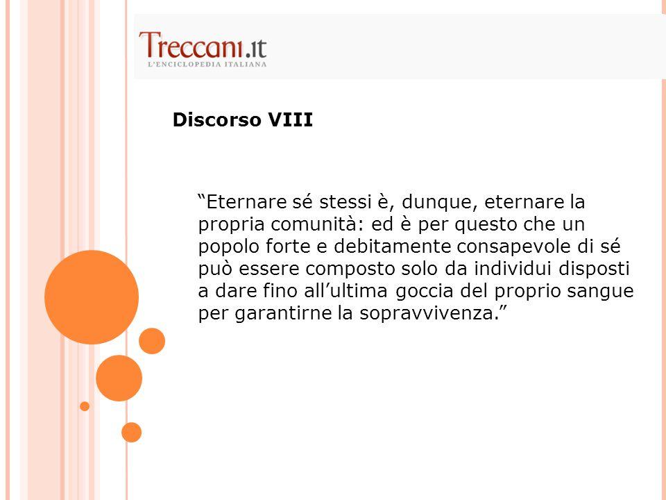 Discorso VIII