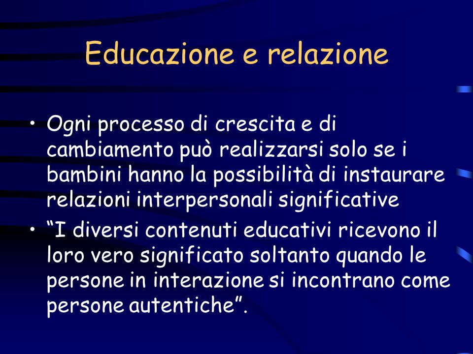 Educazione e relazione