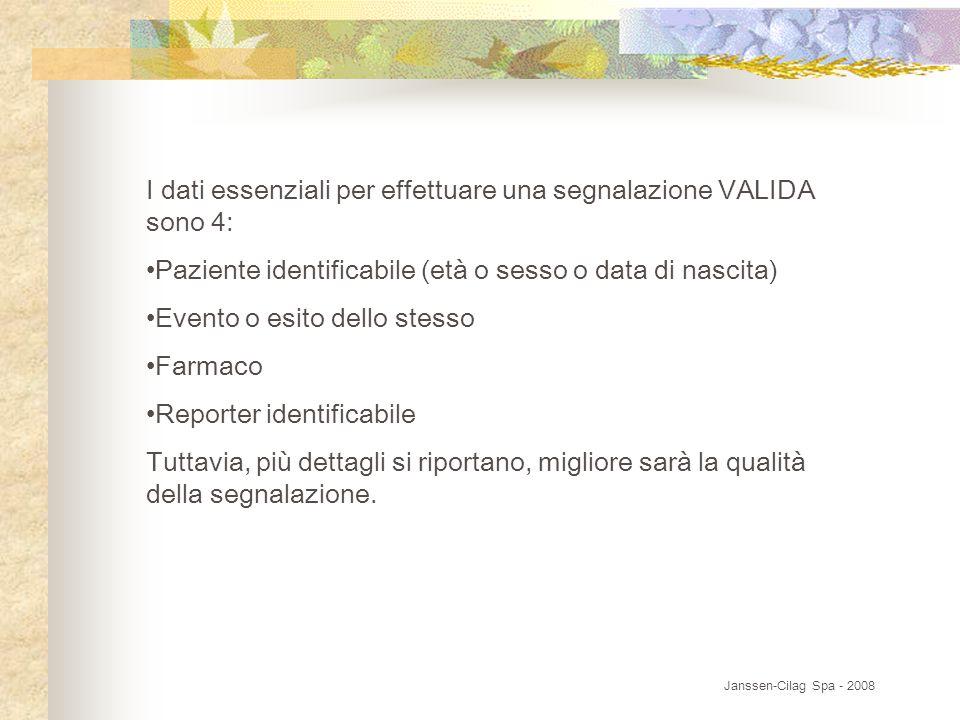 I dati essenziali per effettuare una segnalazione VALIDA sono 4: