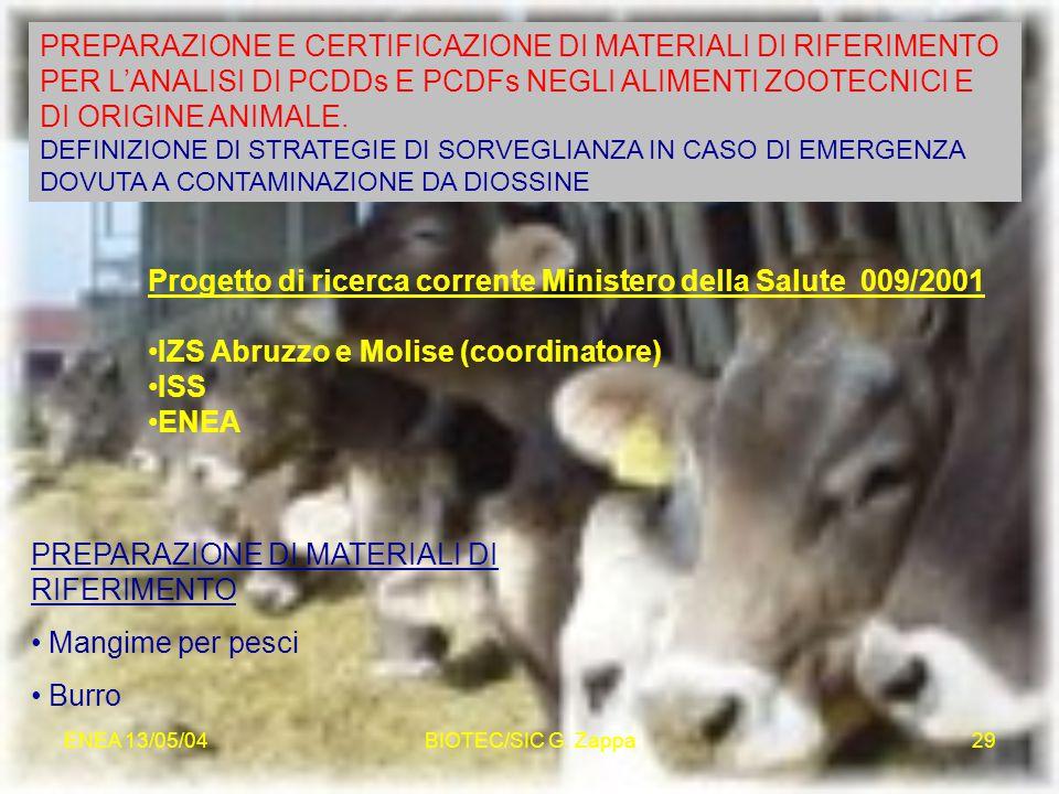 Progetto di ricerca corrente Ministero della Salute 009/2001