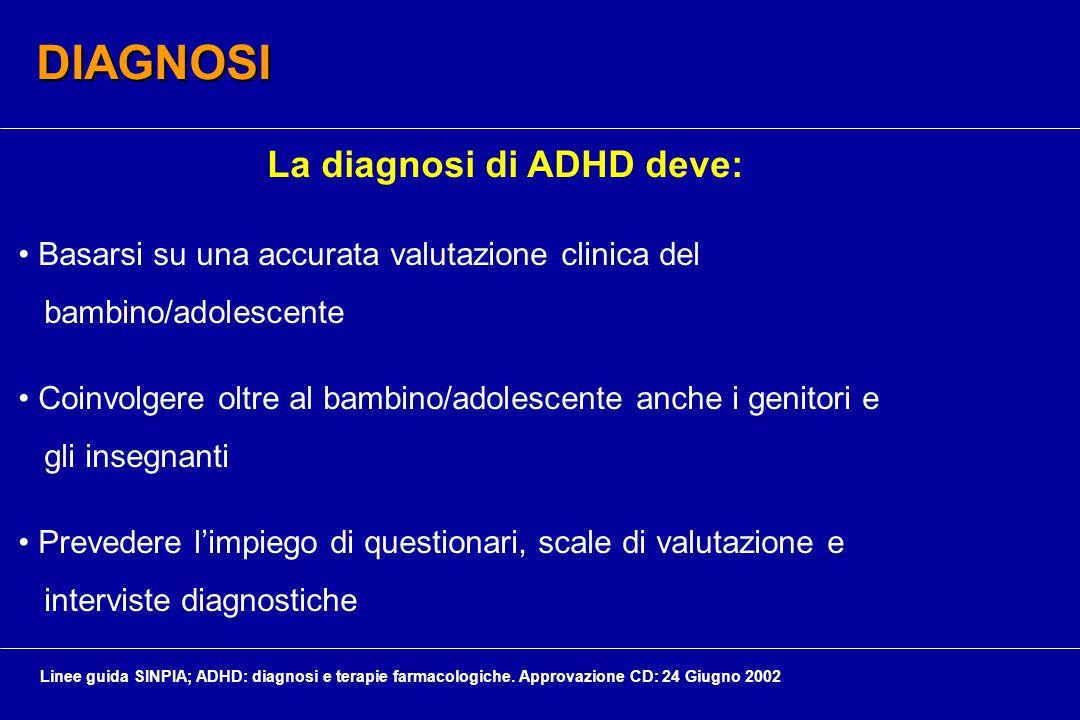 La diagnosi di ADHD deve: