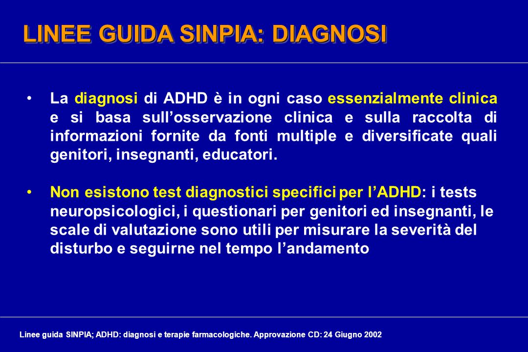 LINEE GUIDA SINPIA: DIAGNOSI