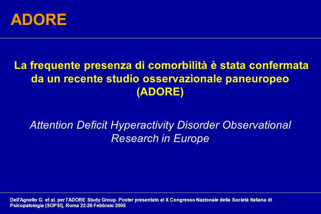 ADORE La frequente presenza di comorbilità è stata confermata da un recente studio osservazionale paneuropeo (ADORE)