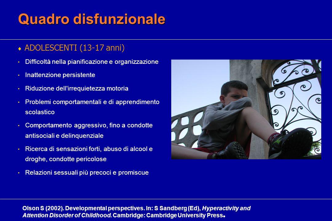 Quadro disfunzionale ADOLESCENTI (13-17 anni)