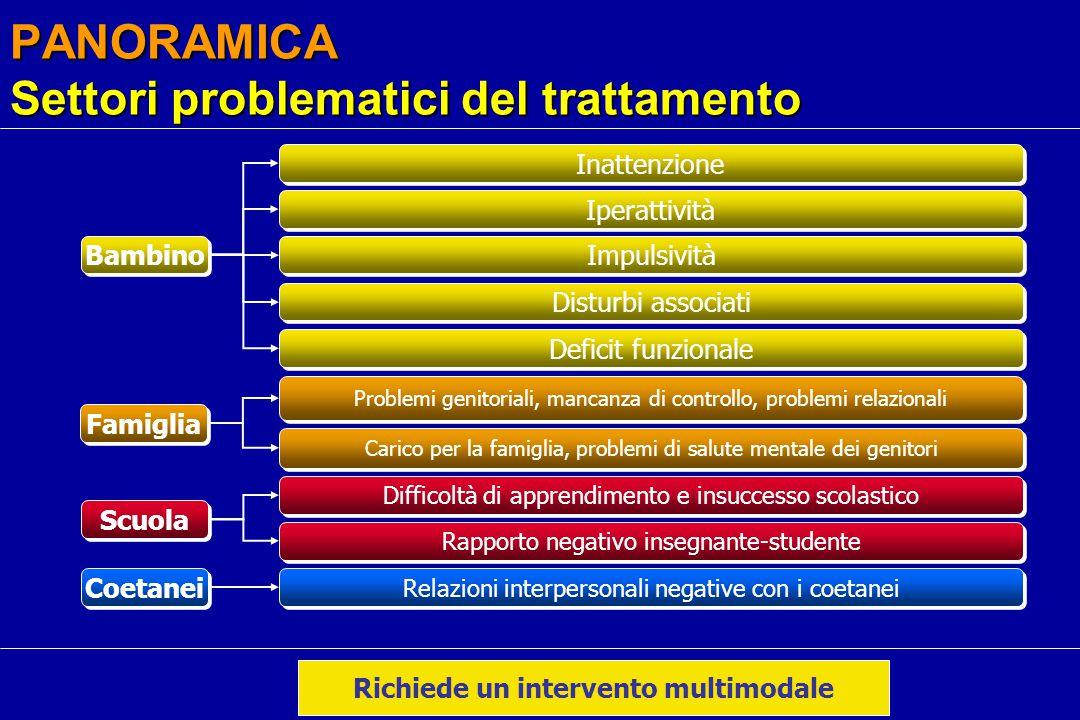PANORAMICA Settori problematici del trattamento