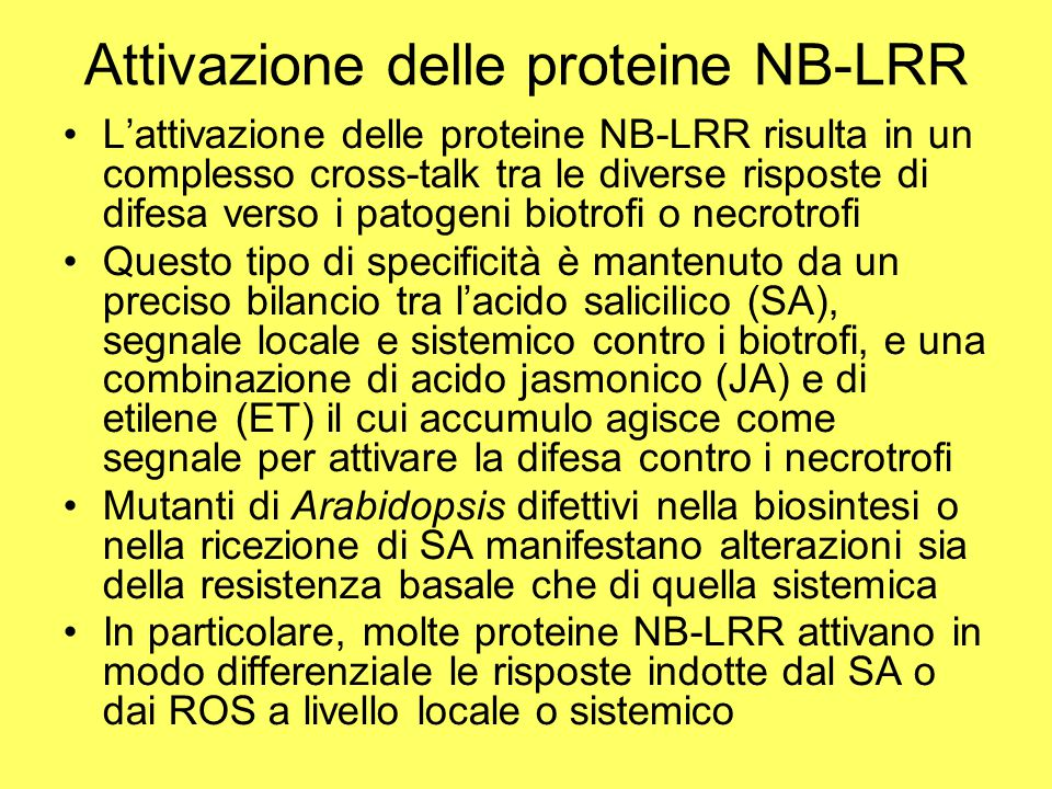 Attivazione delle proteine NB-LRR