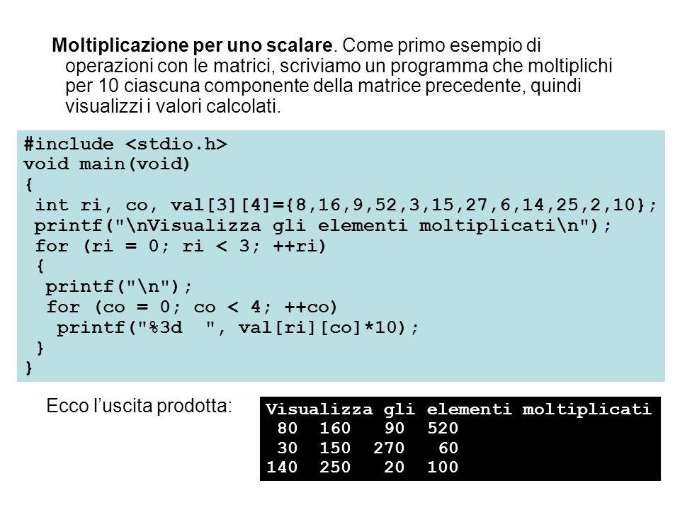 #include <stdio.h> void main(void) {