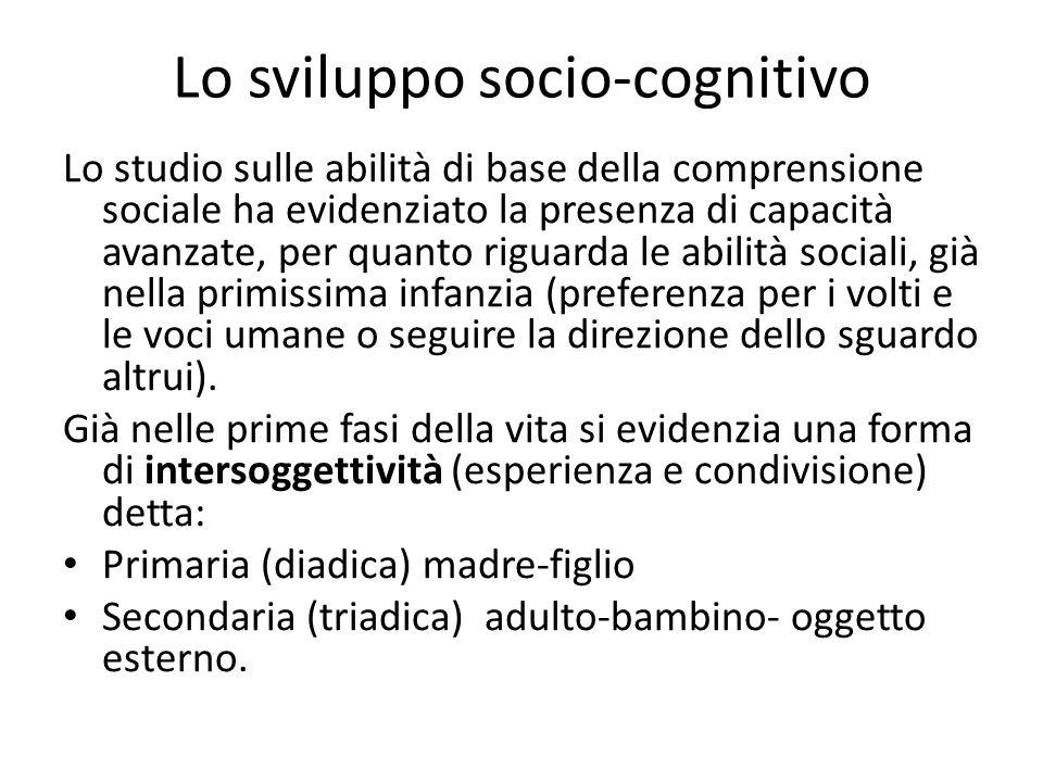 Lo sviluppo socio-cognitivo