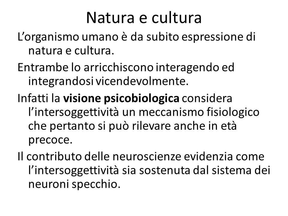 Natura e cultura