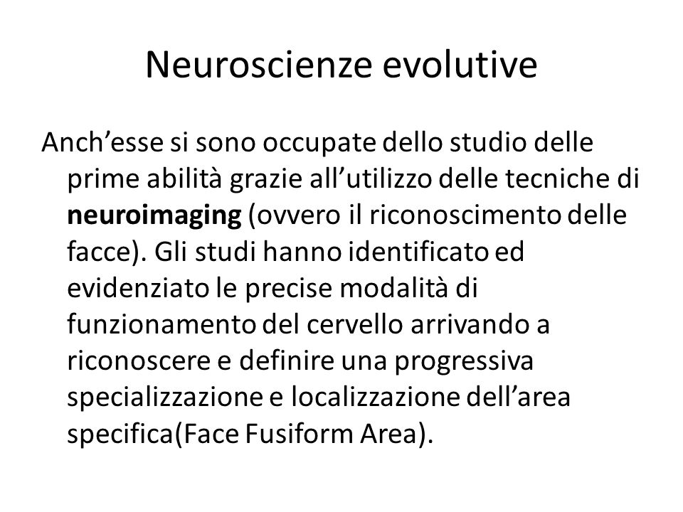 Neuroscienze evolutive