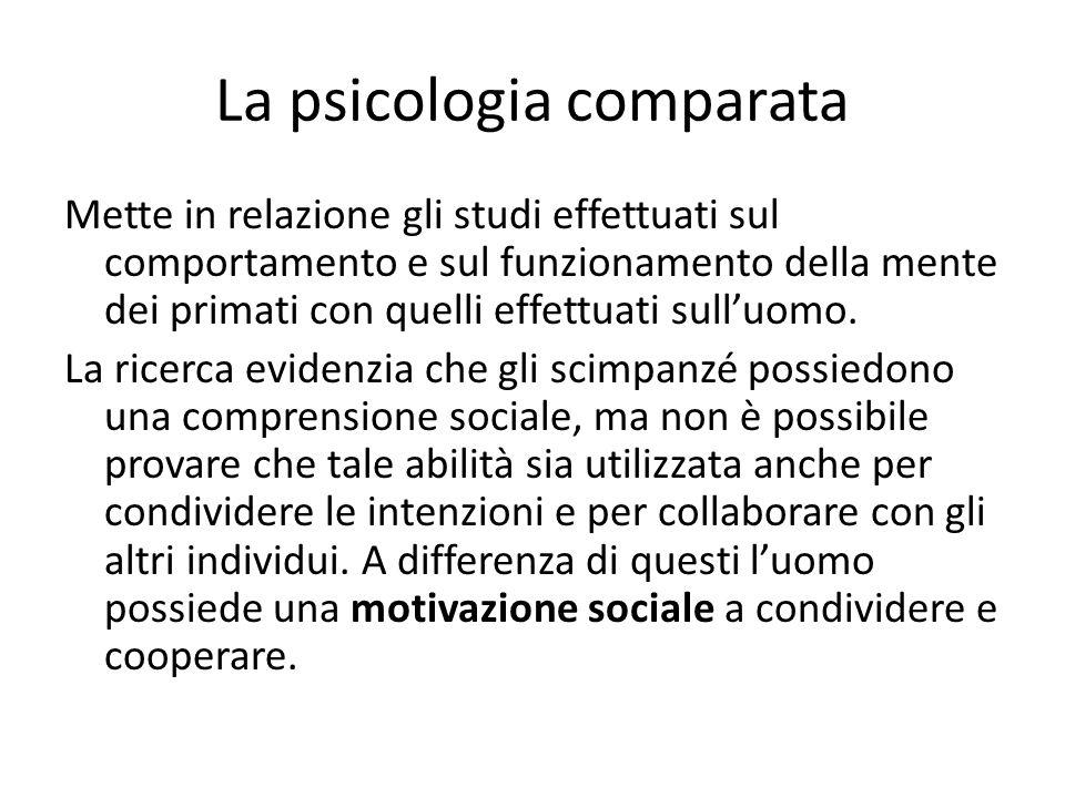 La psicologia comparata