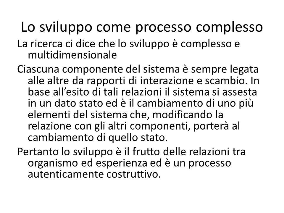 Lo sviluppo come processo complesso