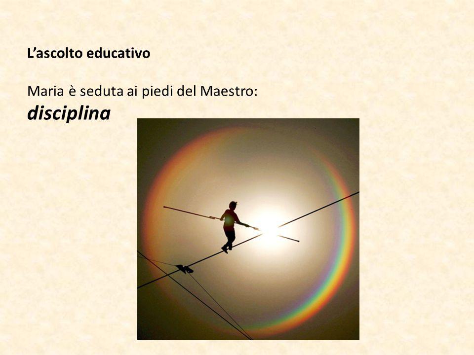 L'ascolto educativo Maria è seduta ai piedi del Maestro: disciplina