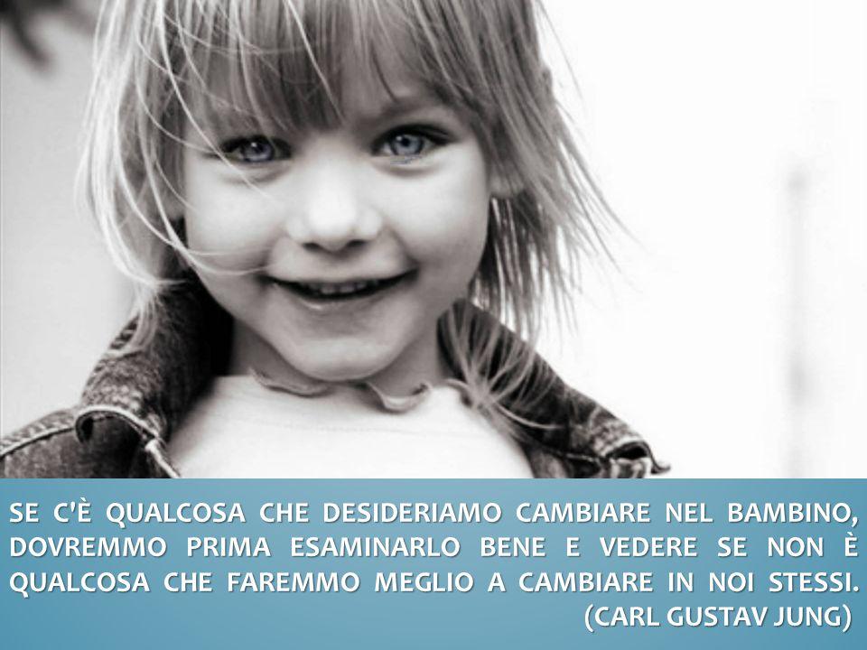 Se c è qualcosa che desideriamo cambiare nel bambino, dovremmo prima esaminarlo bene e vedere se non è qualcosa che faremmo meglio a cambiare in noi stessi.