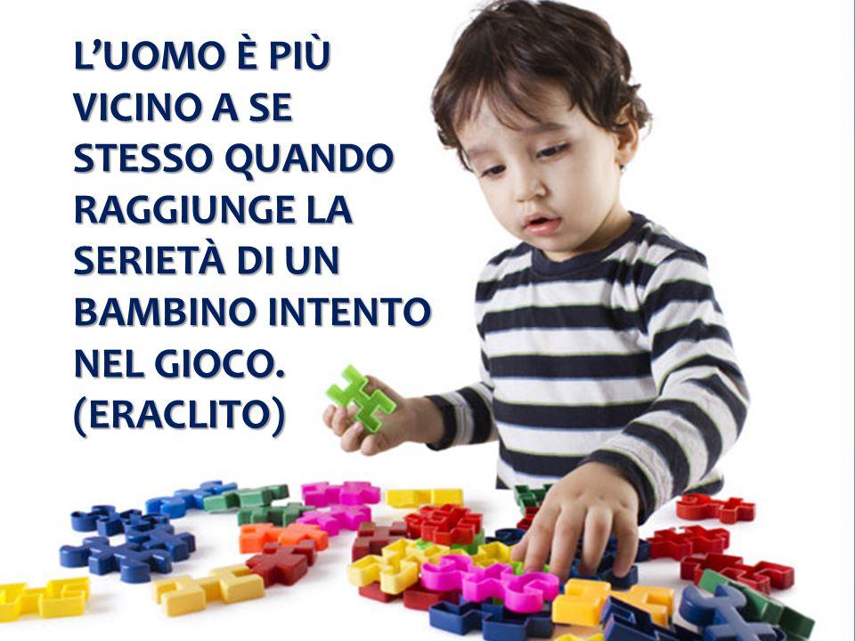 L'uomo è più vicino a se stesso quando raggiunge la serietà di un bambino intento nel gioco.