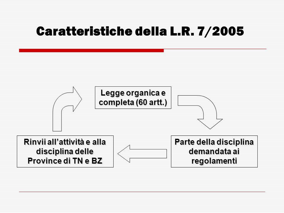 Caratteristiche della L.R. 7/2005