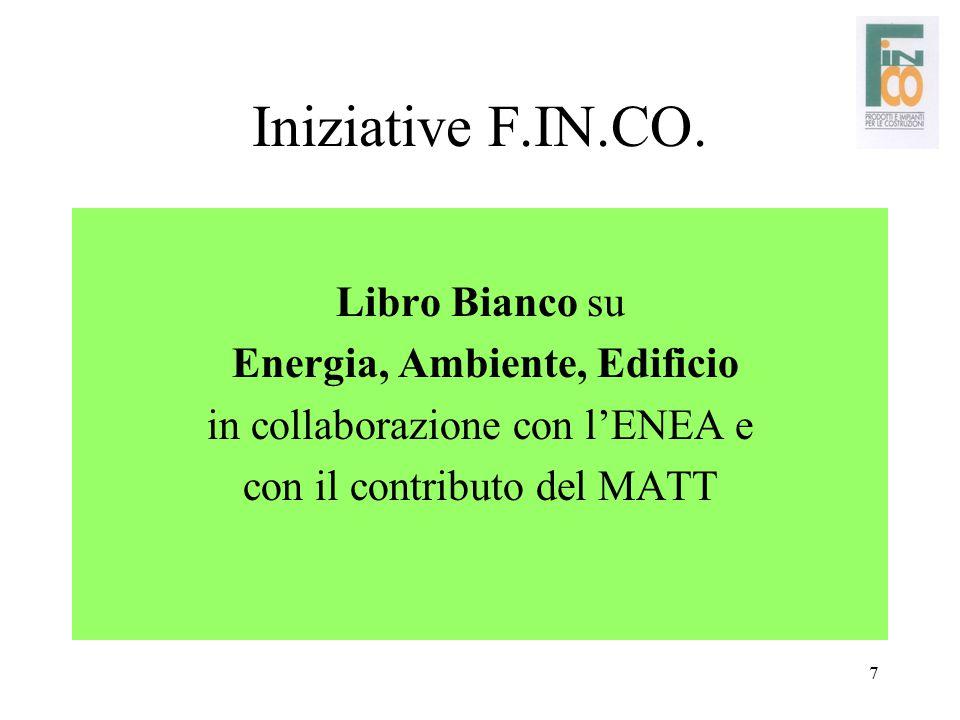Iniziative F.IN.CO. Libro Bianco su Energia, Ambiente, Edificio