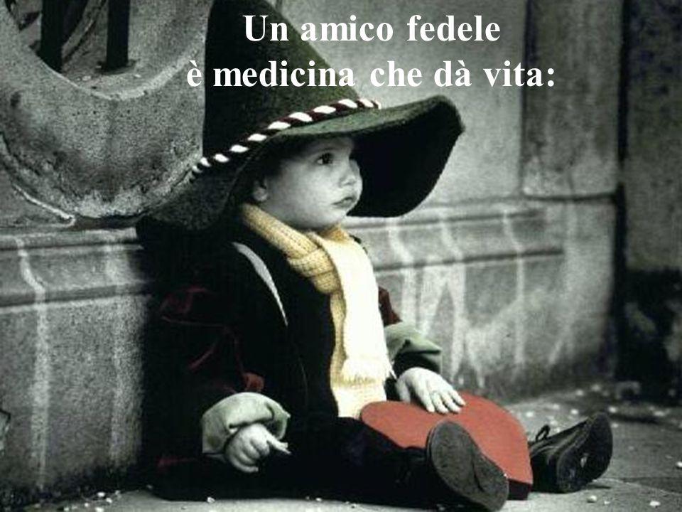 Un amico fedele è medicina che dà vita: non c è misura. per il suo valore. chi lo trova, trova un tesoro.
