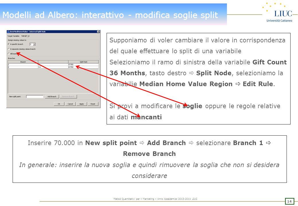 Modelli ad Albero: automatico – Maximal Tree