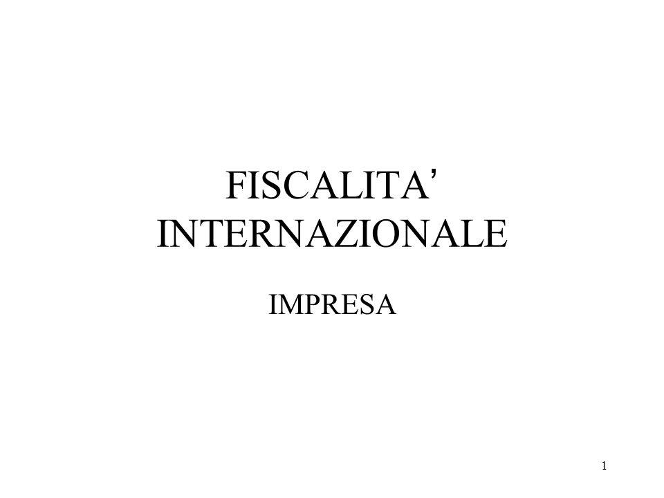 FISCALITA' INTERNAZIONALE