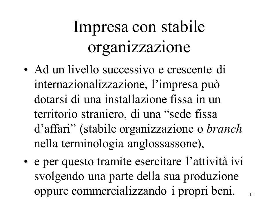 Impresa con stabile organizzazione