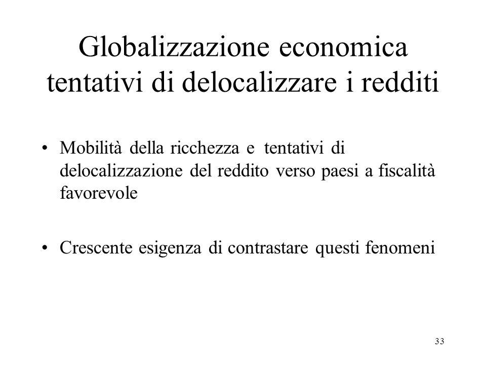 Globalizzazione economica tentativi di delocalizzare i redditi