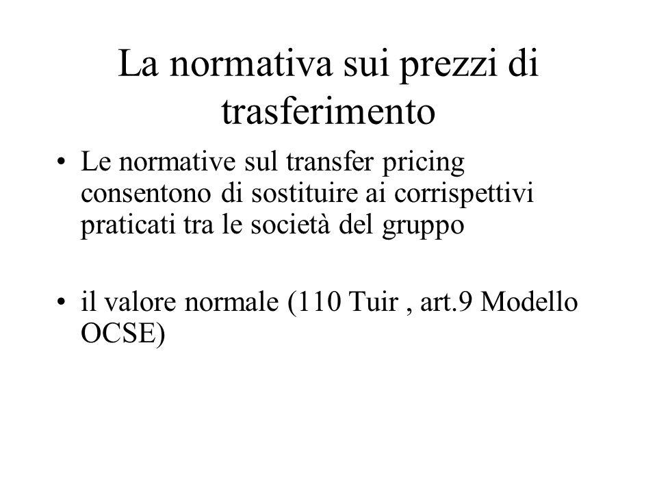 La normativa sui prezzi di trasferimento