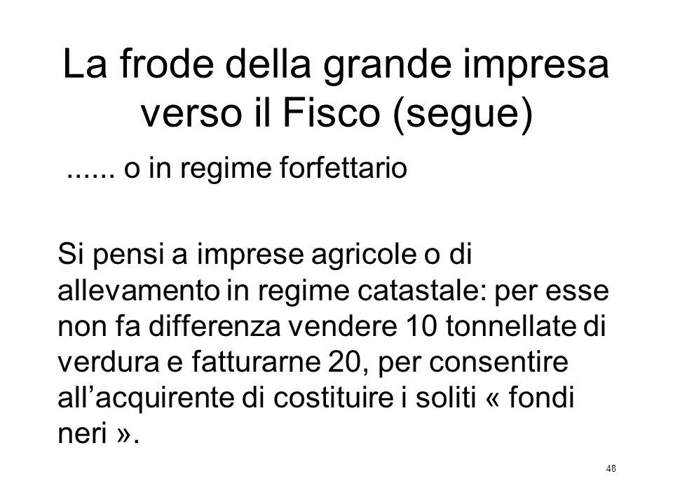 La frode della grande impresa verso il Fisco (segue)
