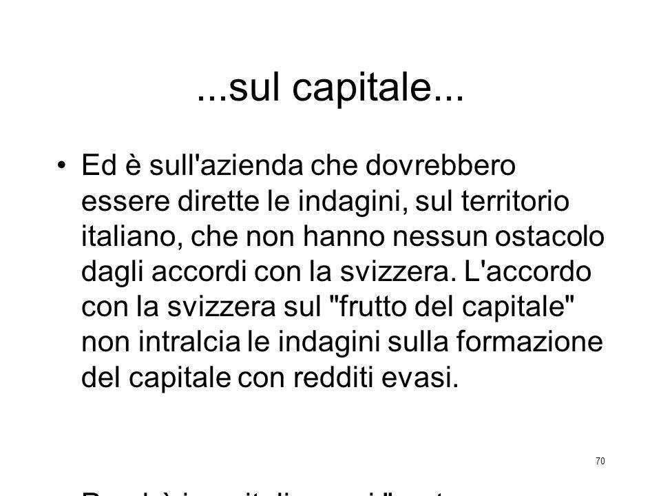 ...sul capitale...