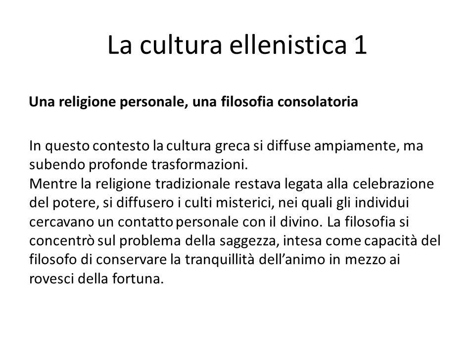 La cultura ellenistica 1