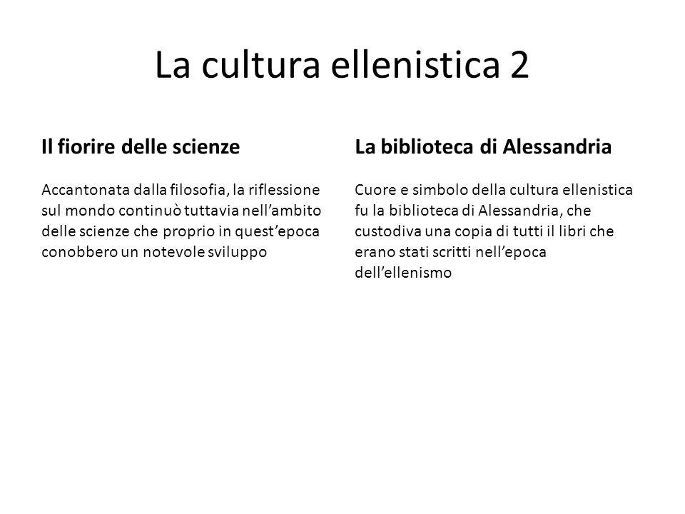 La cultura ellenistica 2