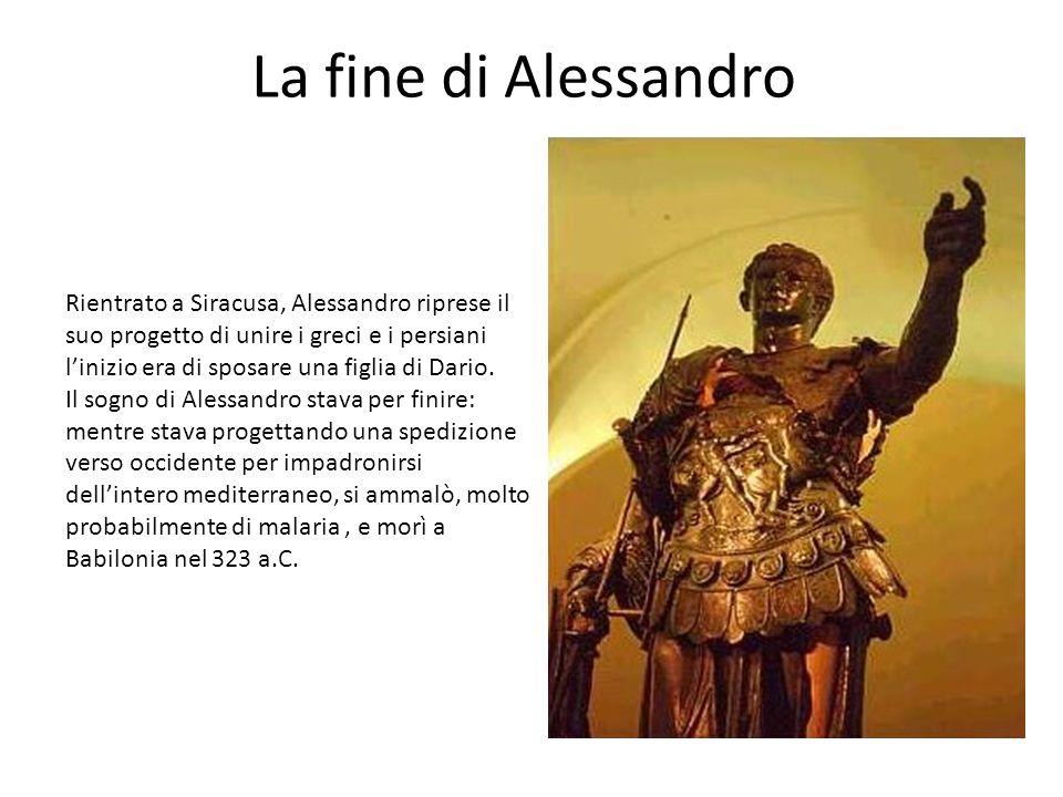 La fine di Alessandro