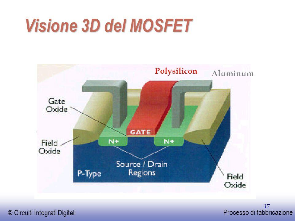 Visione 3D del MOSFET Polysilicon Aluminum