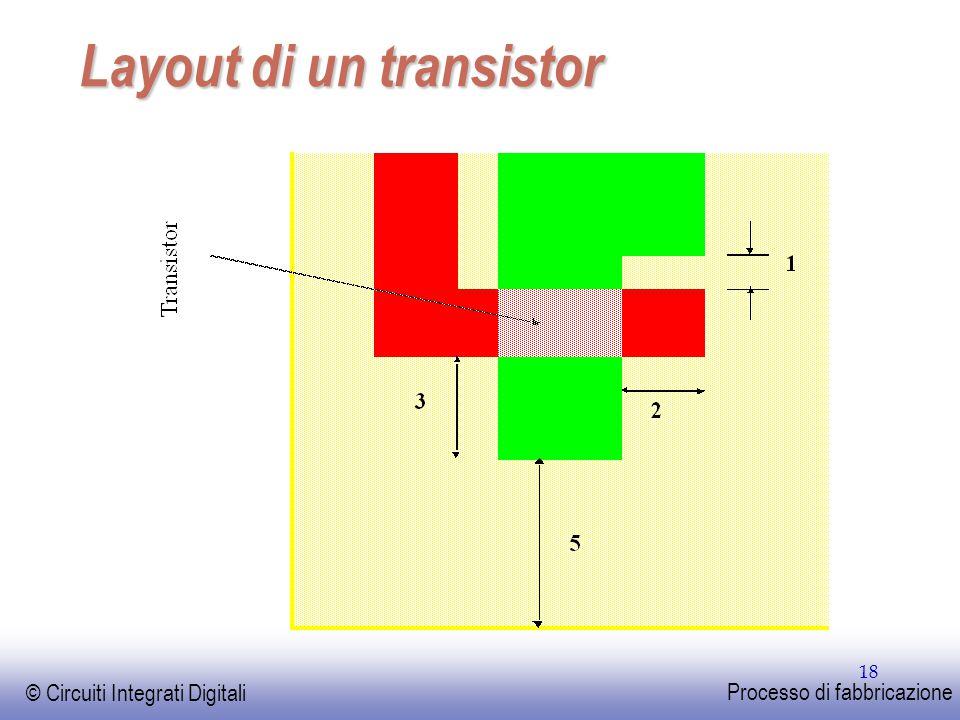 Layout di un transistor