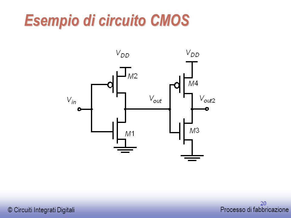 Esempio di circuito CMOS