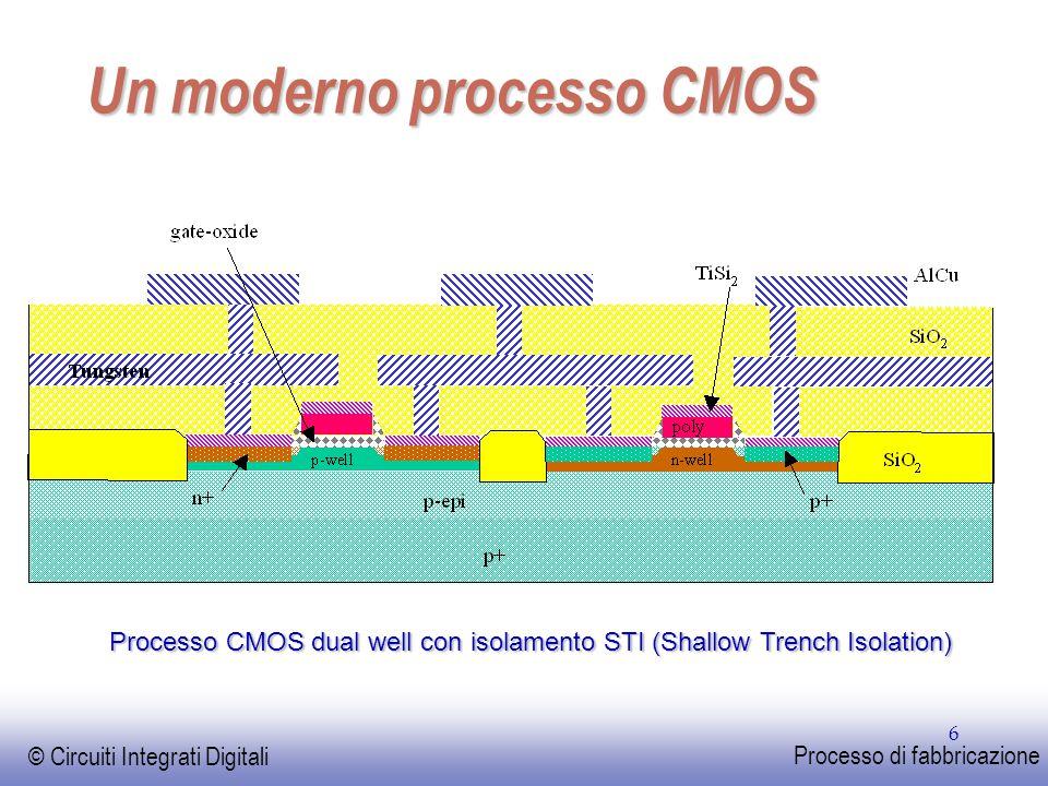 Un moderno processo CMOS
