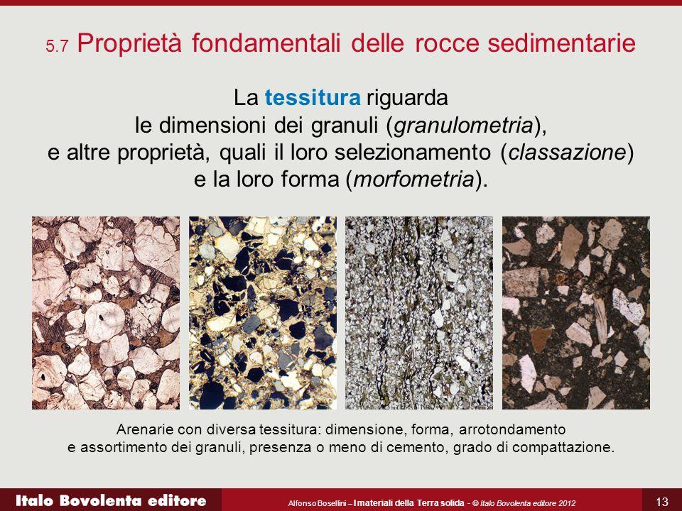 5.7 Proprietà fondamentali delle rocce sedimentarie