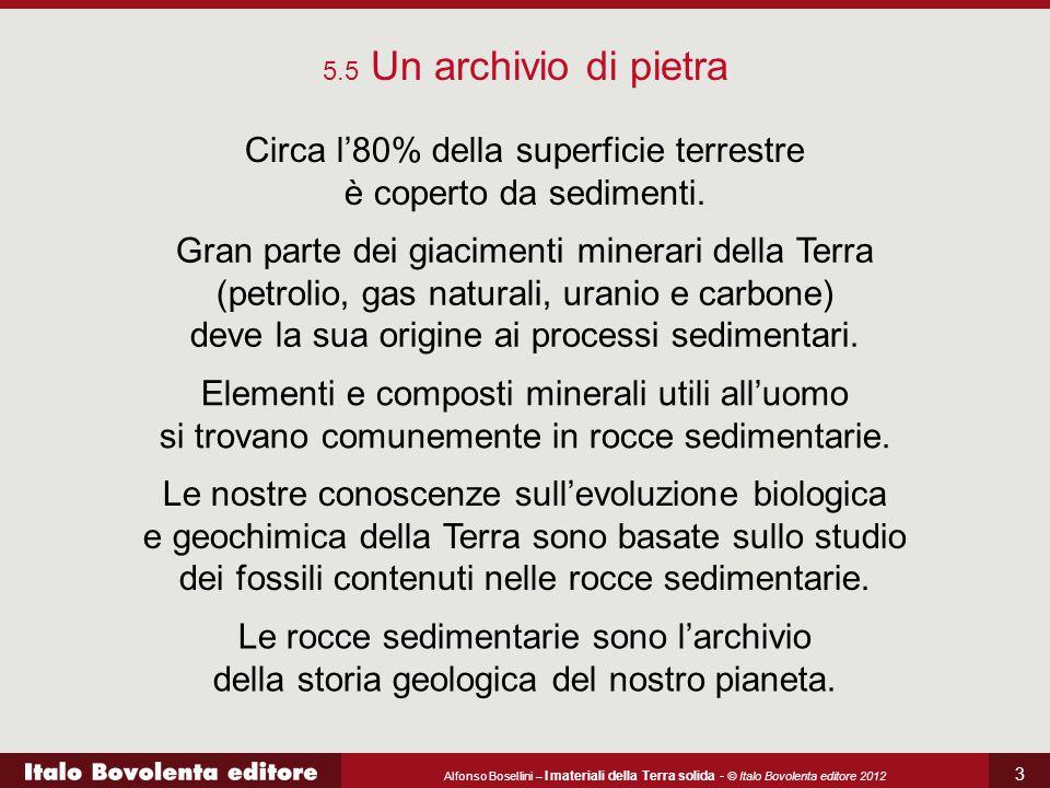 Circa l'80% della superficie terrestre è coperto da sedimenti.
