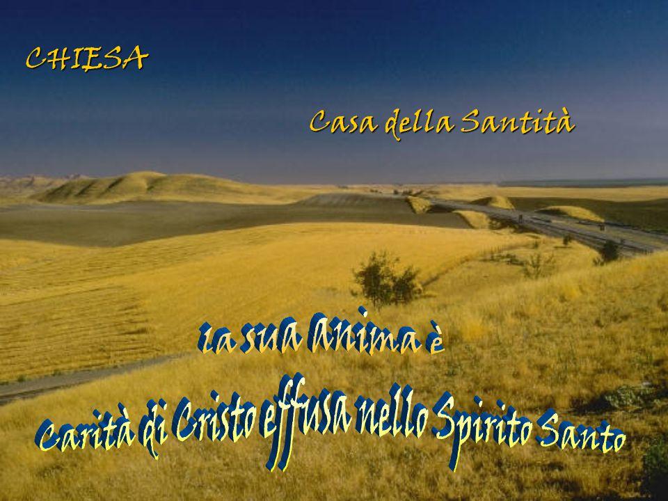 Carità di Cristo effusa nello Spirito Santo