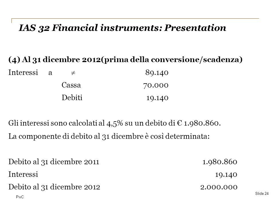 IAS 32 Financial instruments: Presentation