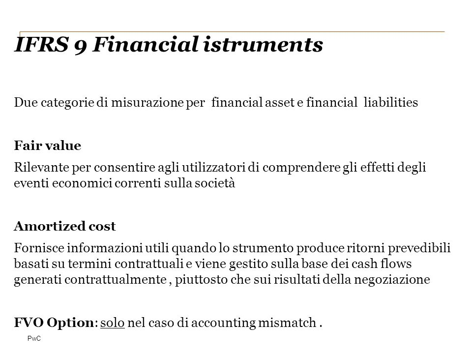 IFRS 9 Financial istruments