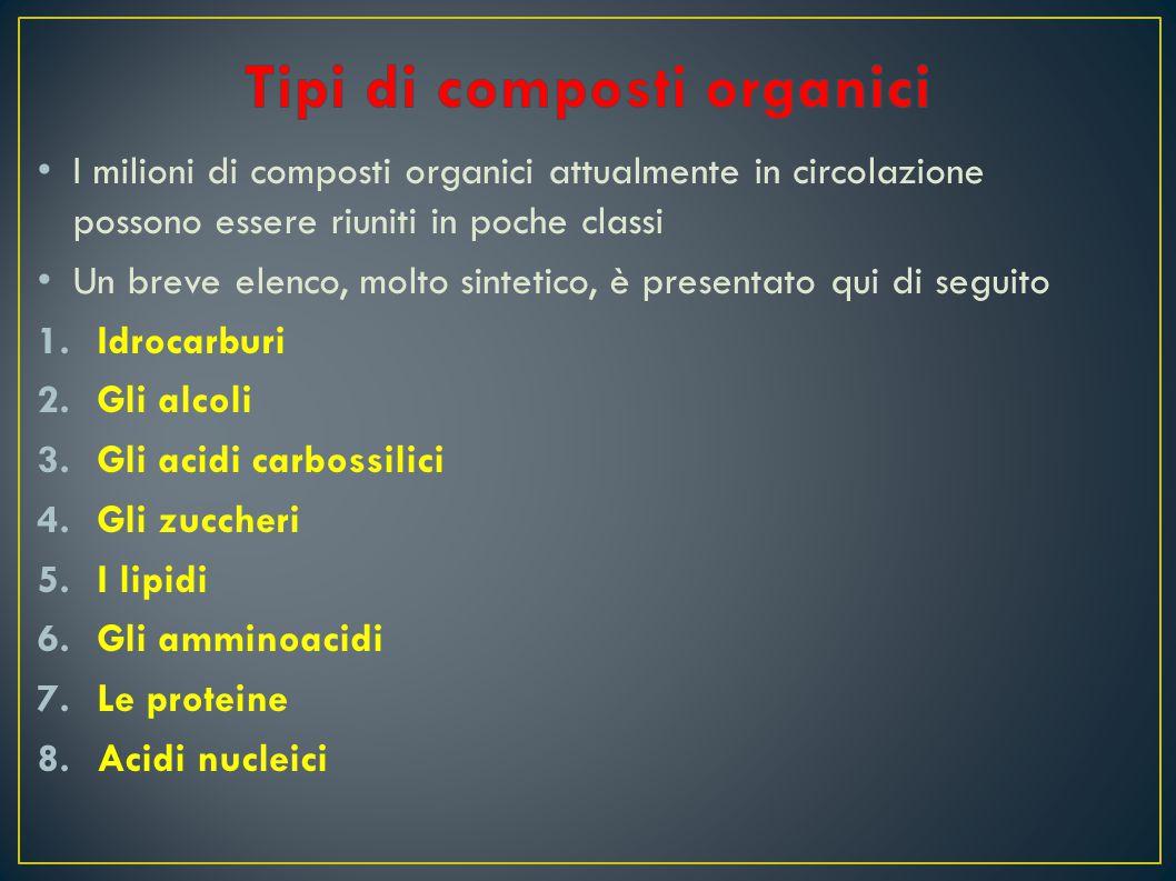Tipi di composti organici